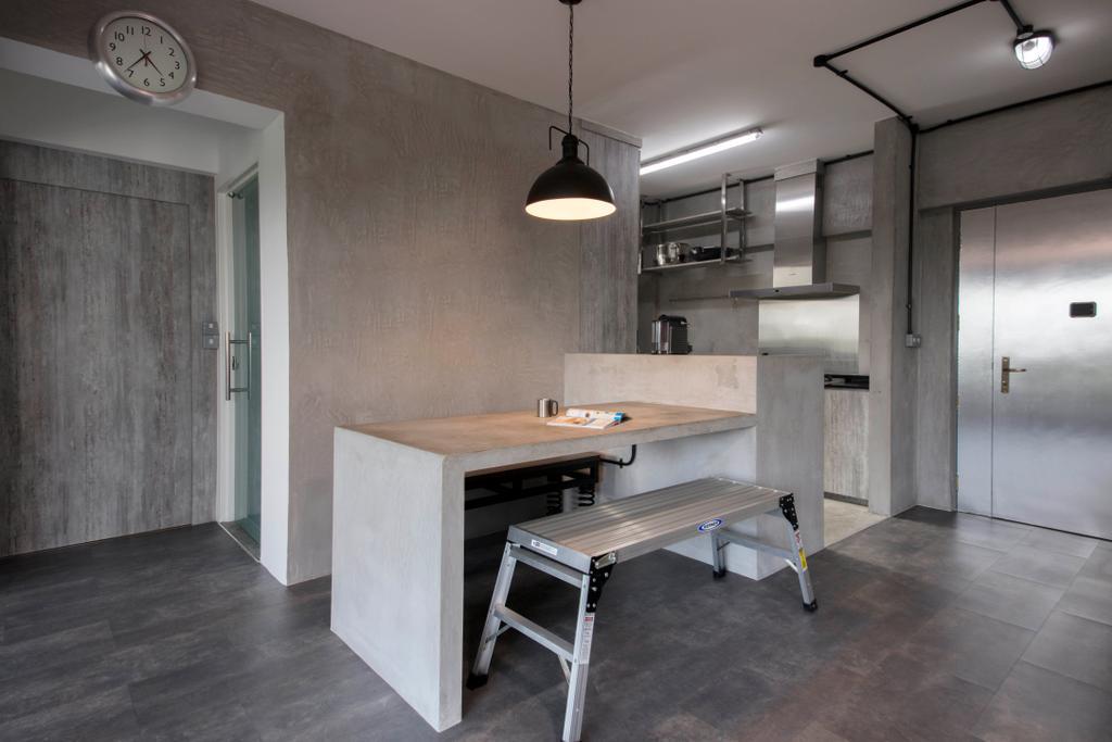 Industrial, HDB, Dining Room, Depot Road, Interior Designer, Goodman Interior, Dining Table, Furniture, Table