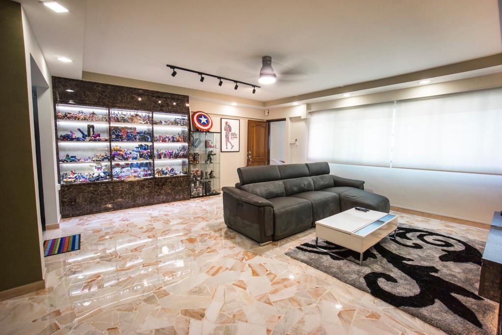 Modern, HDB, Living Room, Bukit Batok West Avenue 8, Interior Designer, Flo Design