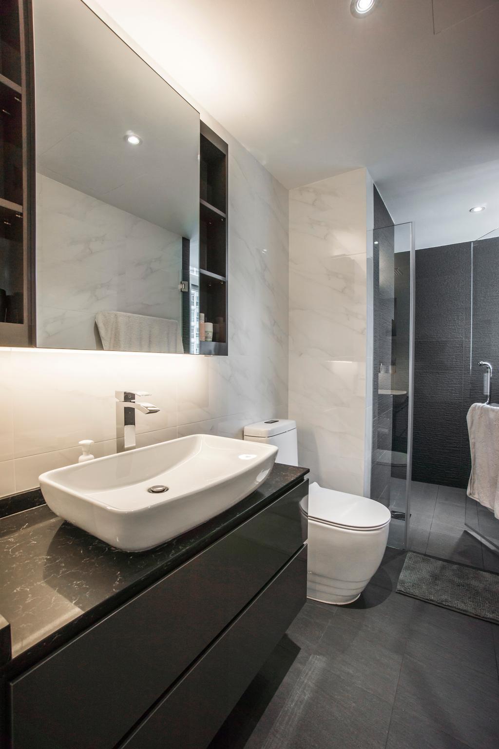 Contemporary, Condo, Bathroom, Monterey Park, Interior Designer, Flo Design, Indoors, Interior Design, Room