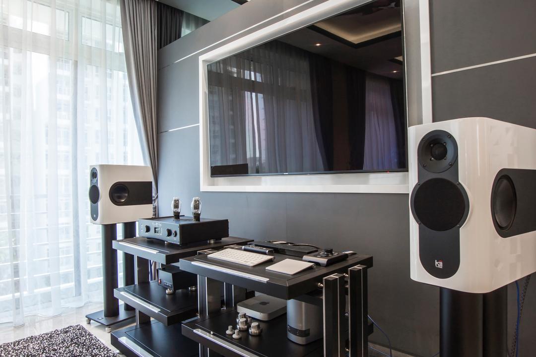 Monterey Park, Flo Design, Contemporary, Condo, Electronics, Loudspeaker, Speaker