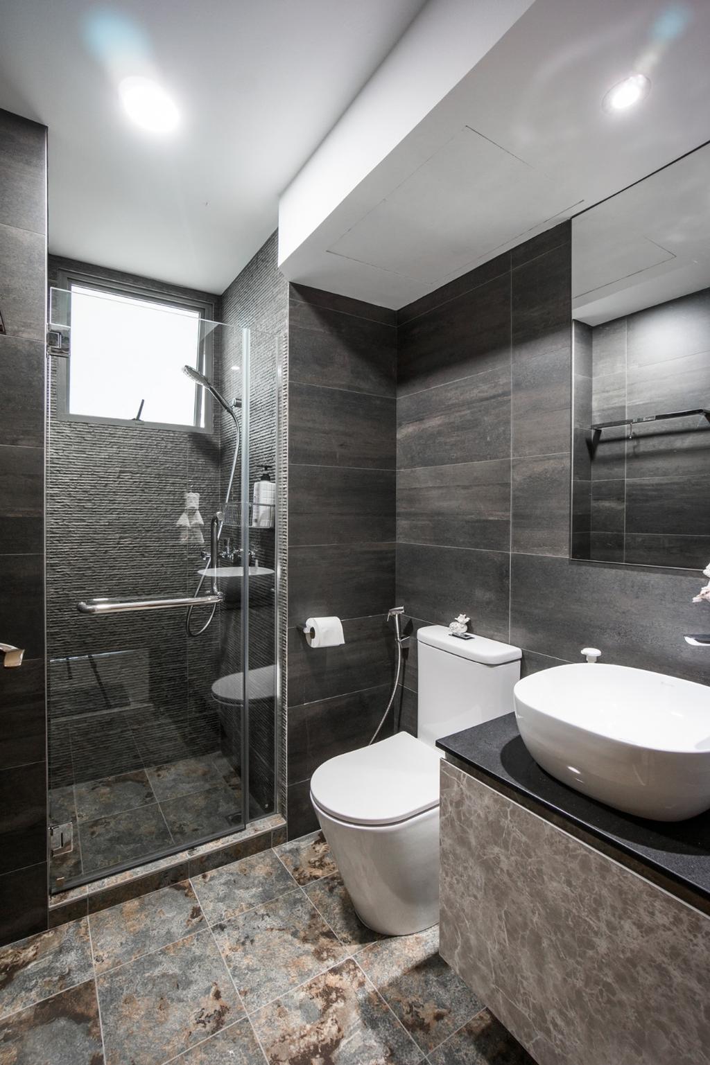 Transitional, Condo, Bathroom, Palm Gardens, Interior Designer, Flo Design, Indoors, Interior Design, Room, Sink