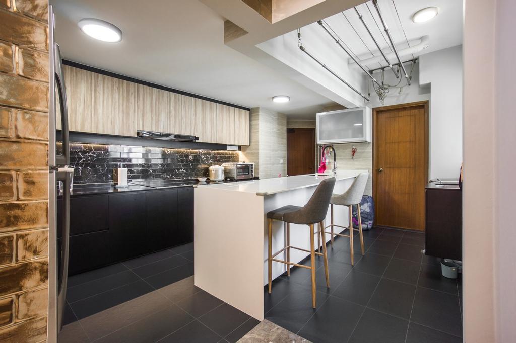 Transitional, Condo, Kitchen, Palm Gardens, Interior Designer, Flo Design, Chair, Furniture, Indoors, Interior Design