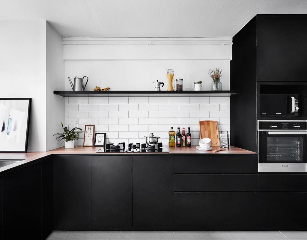 Modern, HDB, Kitchen, Dorset Road, Interior Designer, Third Avenue Studio, Appliance, Electrical Device, Oven, Indoors, Interior Design, Room, Furniture, Sideboard, White Board