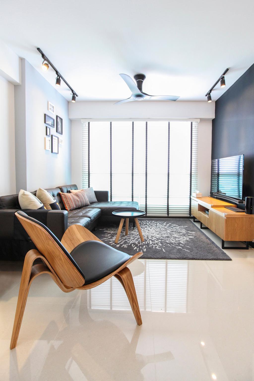 Contemporary, HDB, Living Room, Bukit Batok West Avenue, Interior Designer, 9's Interior, Chair, Furniture, Indoors, Room