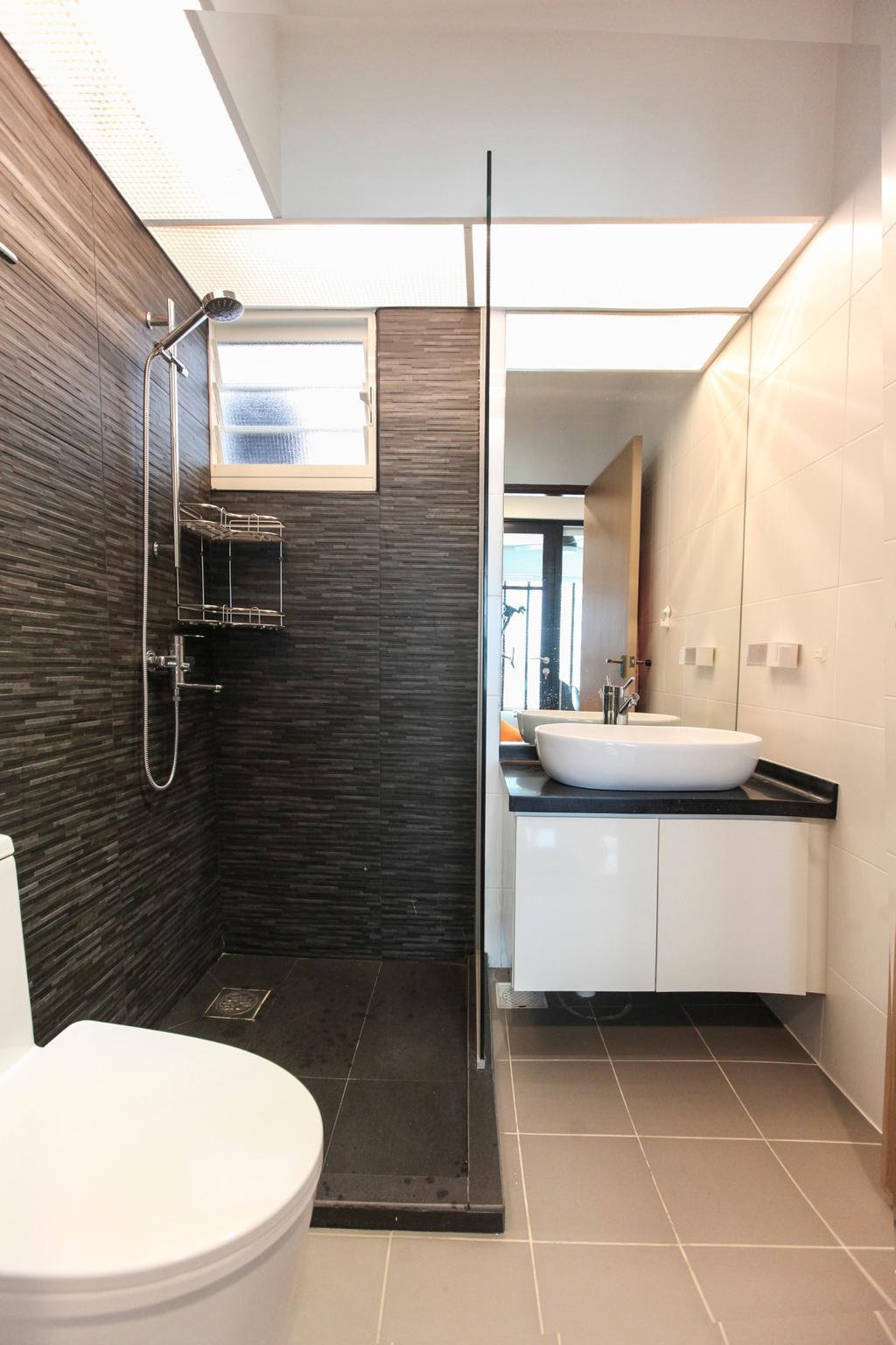 Contemporary, HDB, Bathroom, Bukit Batok West Avenue, Interior Designer, 9's Interior, Indoors, Interior Design, Room