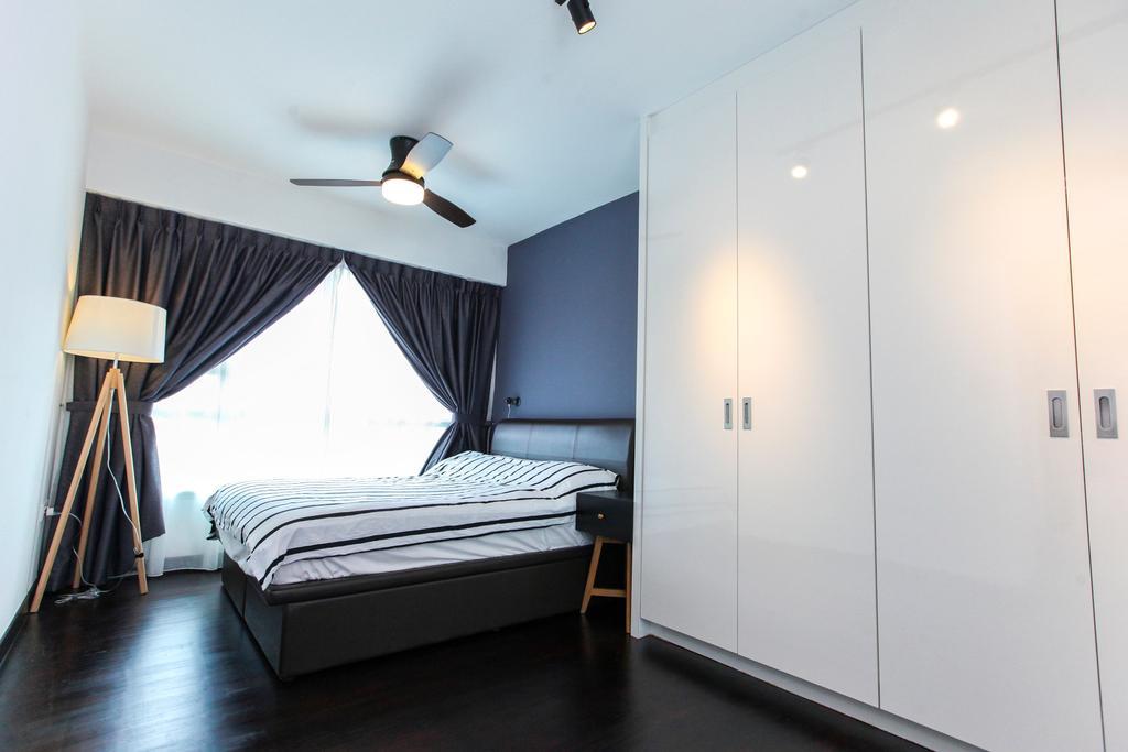 Contemporary, HDB, Bedroom, Bukit Batok West Avenue, Interior Designer, 9's Interior, Bed, Furniture, Indoors, Interior Design, Room