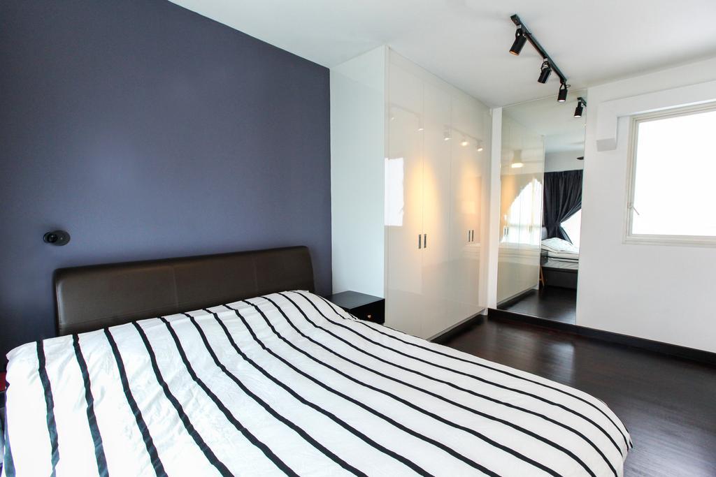 Contemporary, HDB, Bedroom, Bukit Batok West Avenue, Interior Designer, 9's Interior, Bed, Furniture, Tripod, Telescope, Indoors, Interior Design, Room, Door, Sliding Door