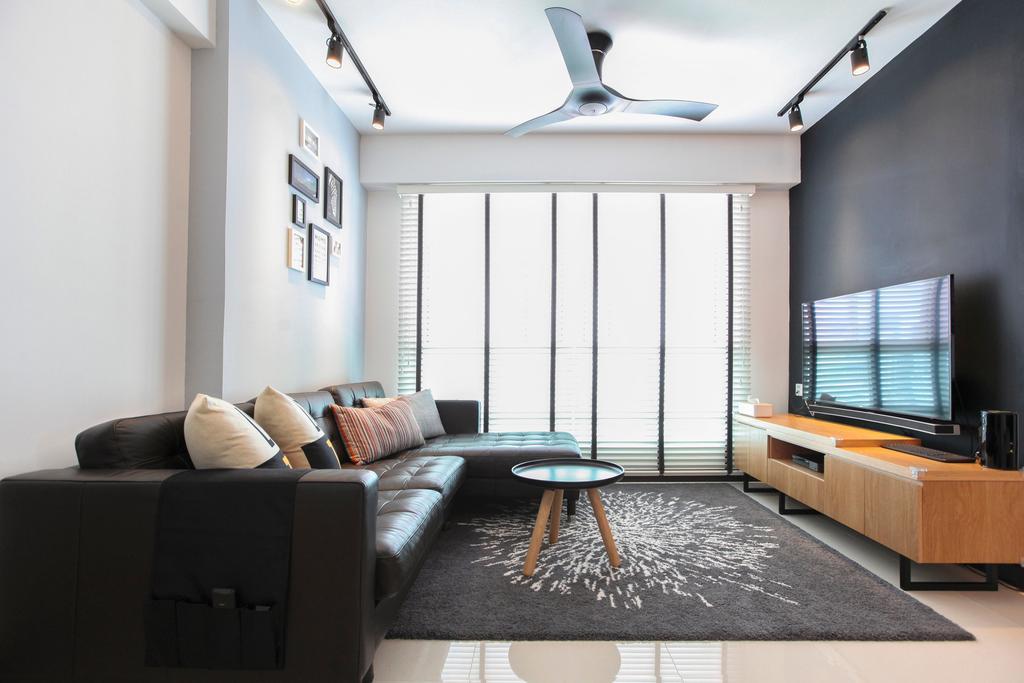 Contemporary, HDB, Living Room, Bukit Batok West Avenue, Interior Designer, 9's Interior, Couch, Furniture, Chair