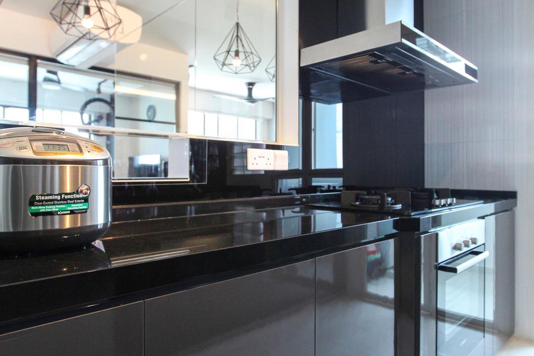 Bukit Batok West Avenue, 9's Interior, Contemporary, Kitchen, HDB, Diner, Food, Meal, Restaurant, Bathroom, Indoors, Interior Design, Room