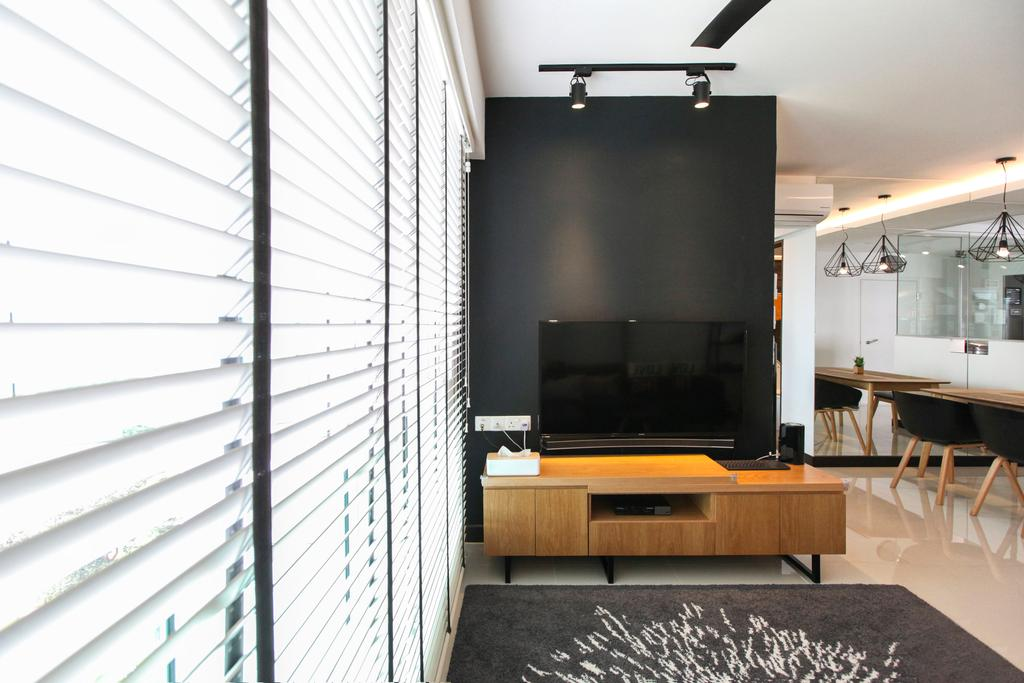 Contemporary, HDB, Living Room, Bukit Batok West Avenue, Interior Designer, 9's Interior, Dining Table, Furniture, Table, Indoors, Interior Design, Light Fixture