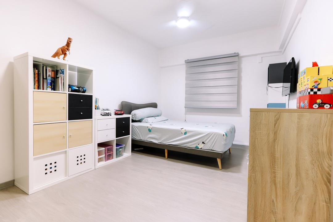 Gloucester Road, 9's Interior, Modern, Minimalistic, Bedroom, HDB, Bed, Furniture, Plywood, Wood