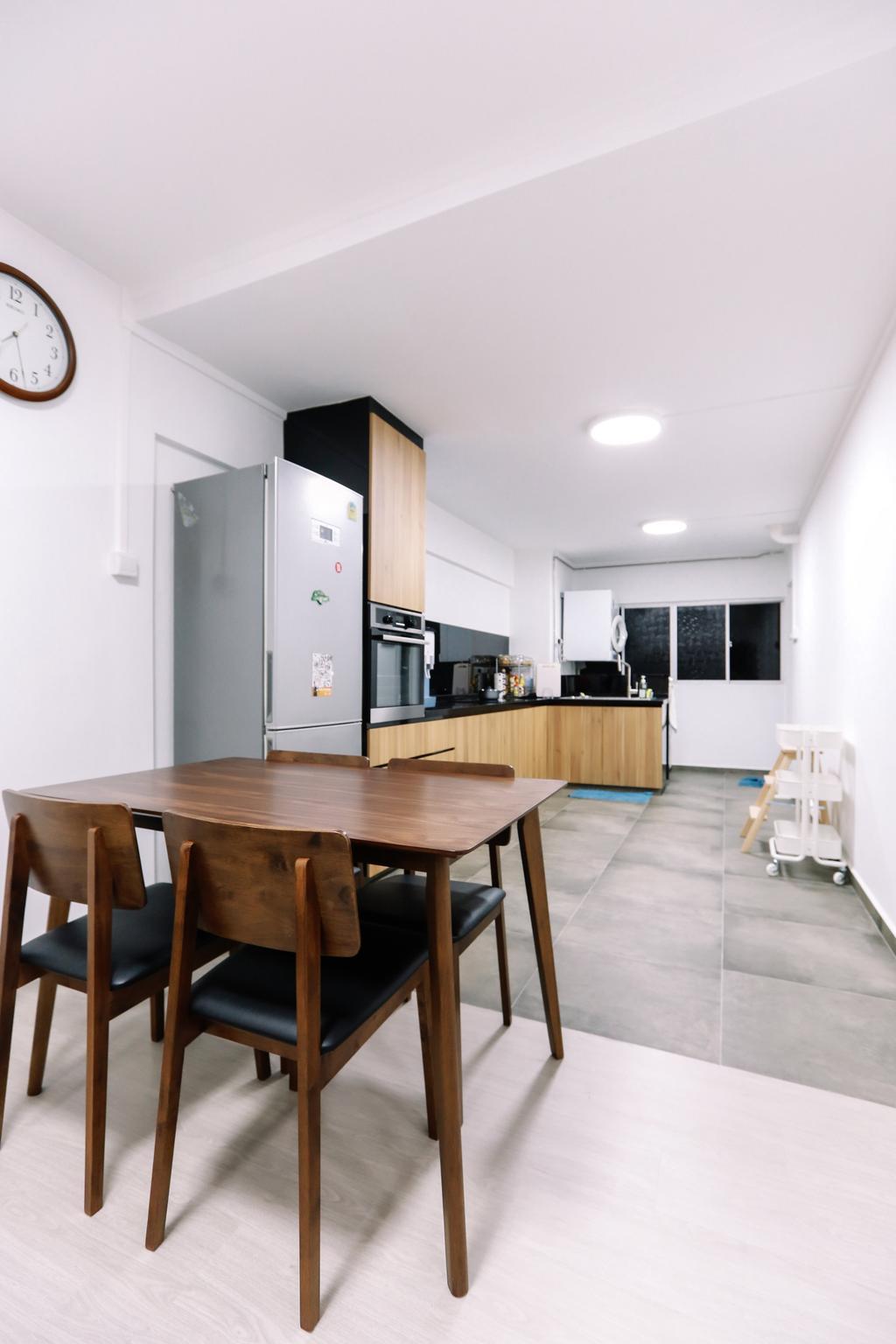 Modern, HDB, Dining Room, Gloucester Road, Interior Designer, 9's Interior, Minimalistic, Dining Table, Furniture, Table, Indoors, Room, Chair, Interior Design