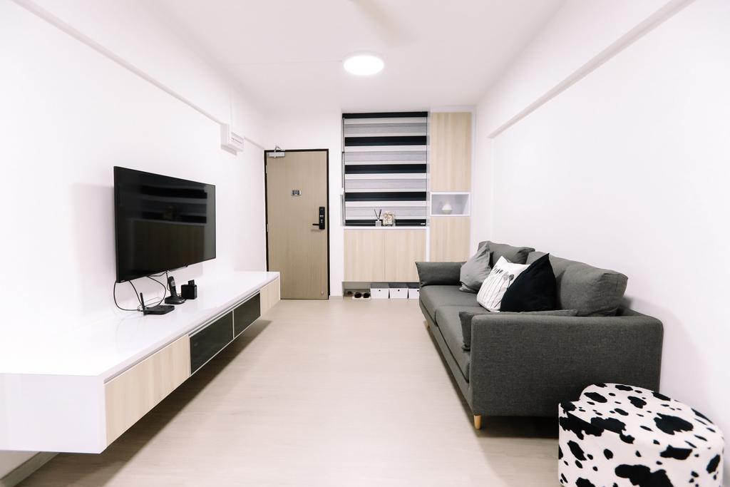 Modern, HDB, Living Room, Gloucester Road, Interior Designer, 9's Interior, Minimalistic, Couch, Furniture