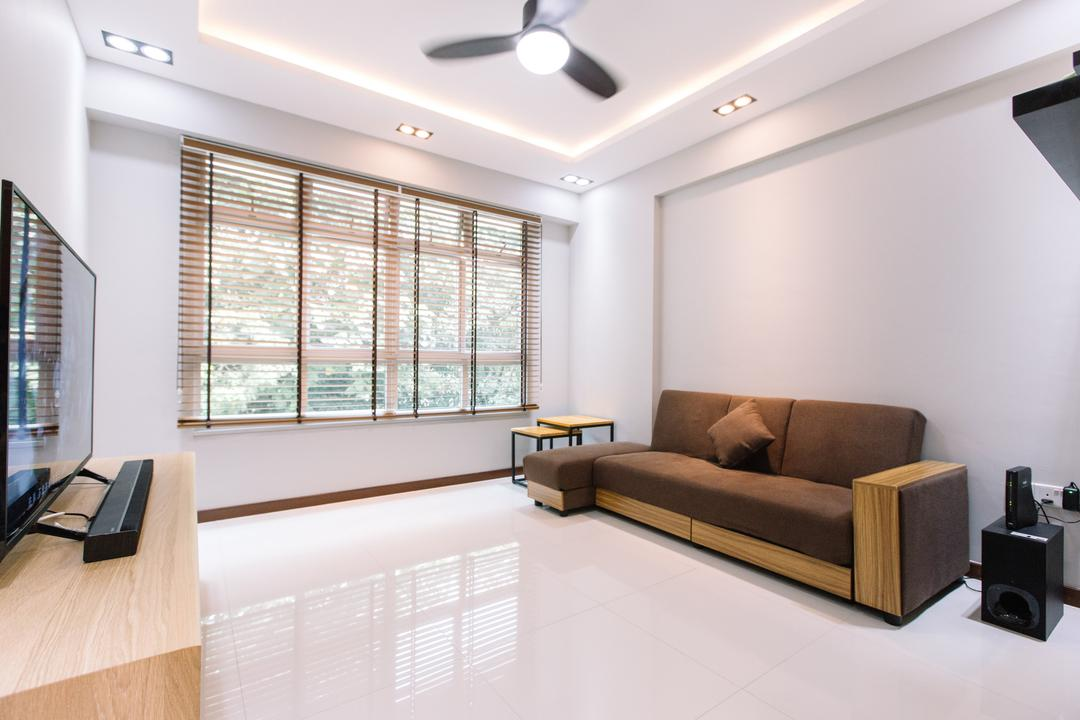 Yishun Ring Road, 9's Interior, Modern, Living Room, HDB, Indoors, Interior Design, Electronics, Loudspeaker, Speaker, Couch, Furniture