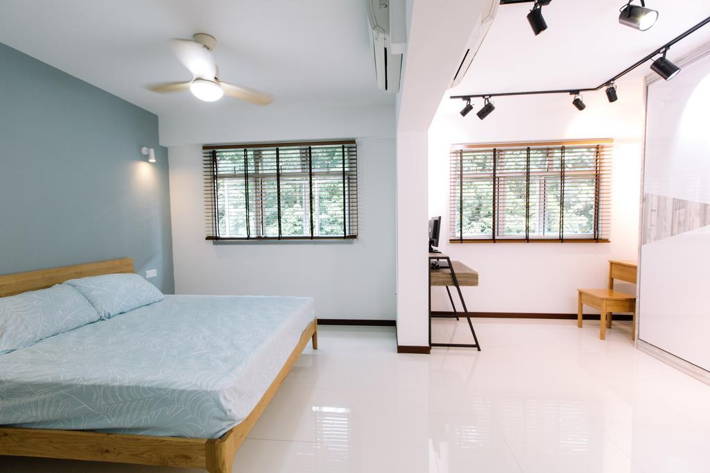 Modern, HDB, Bedroom, Yishun Ring Road, Interior Designer, 9's Interior, Bed, Furniture, Window