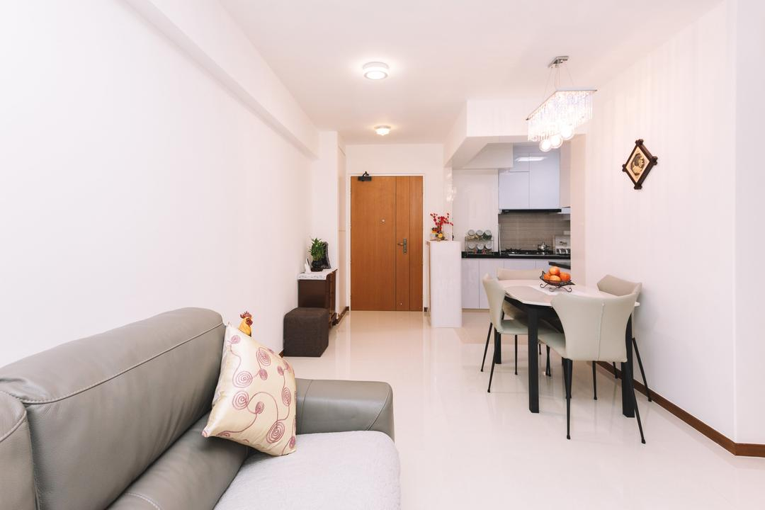 Sumang Lane (Block 220C), 9's Interior, Modern, Living Room, HDB, Dining Table, Furniture, Table, Couch, Cushion, Home Decor