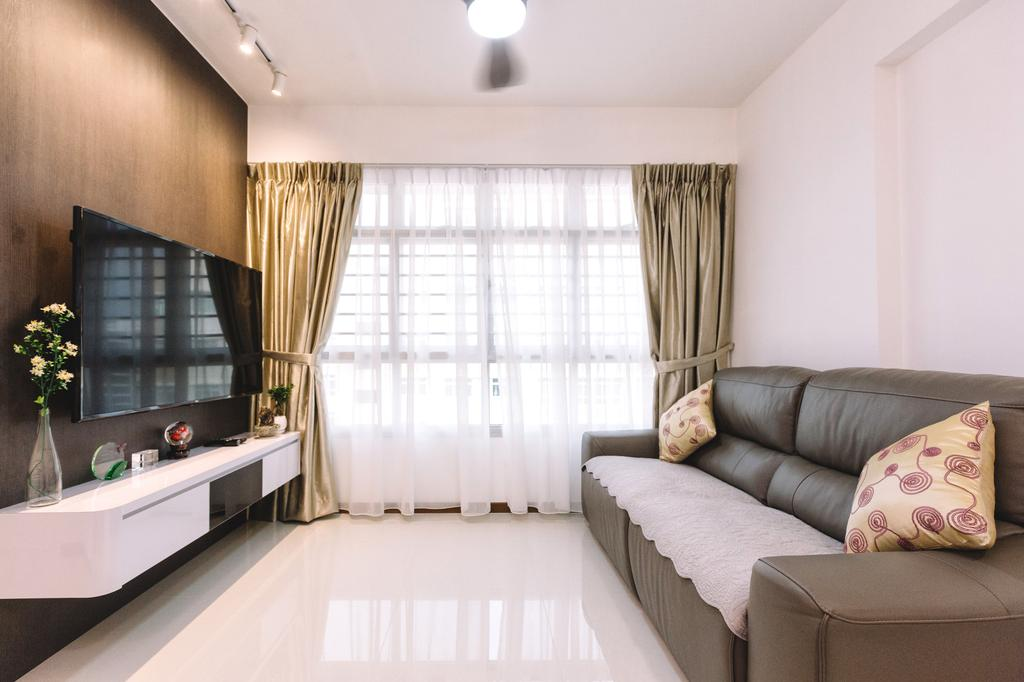 Modern, HDB, Living Room, Sumang Lane (Block 220C), Interior Designer, 9's Interior, Flora, Jar, Plant, Potted Plant, Pottery, Vase, Indoors, Interior Design, Couch, Furniture, Room
