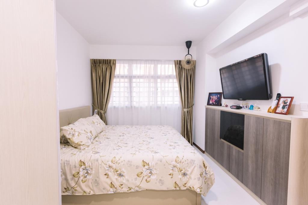 Modern, HDB, Bedroom, Sumang Lane (Block 220C), Interior Designer, 9's Interior, Curtain, Home Decor, Indoors, Interior Design, Room, Bed, Furniture