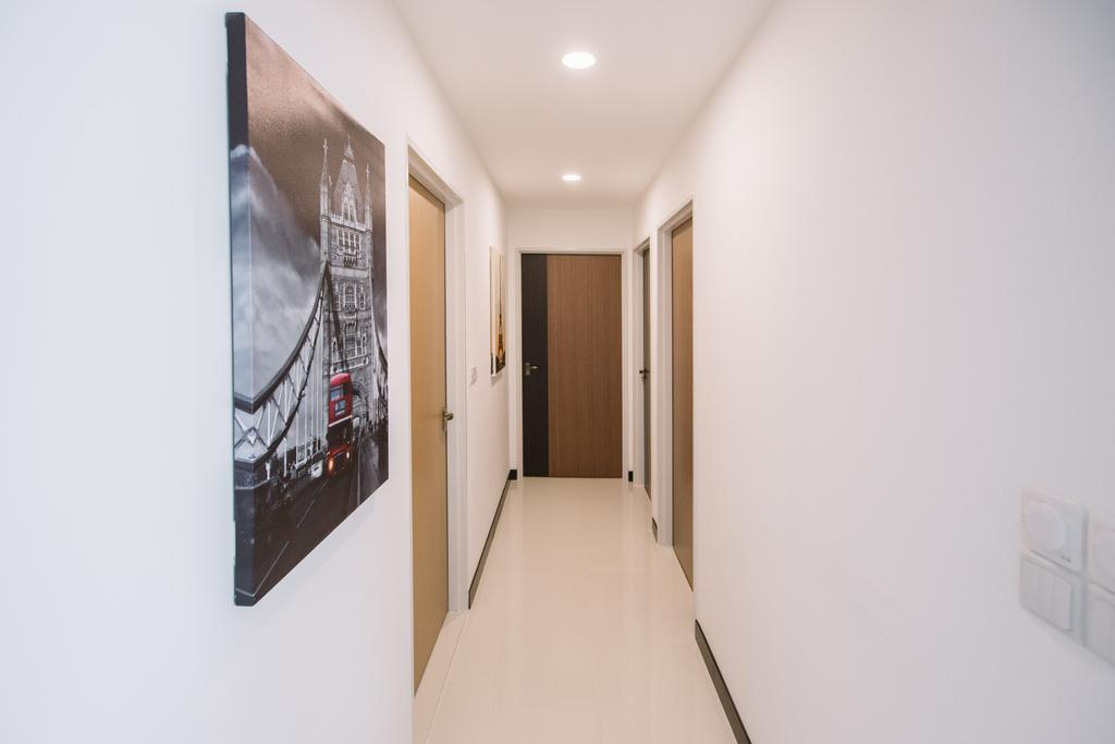 Contemporary, HDB, Sumang Lane, Interior Designer, 9's Interior, Corridor