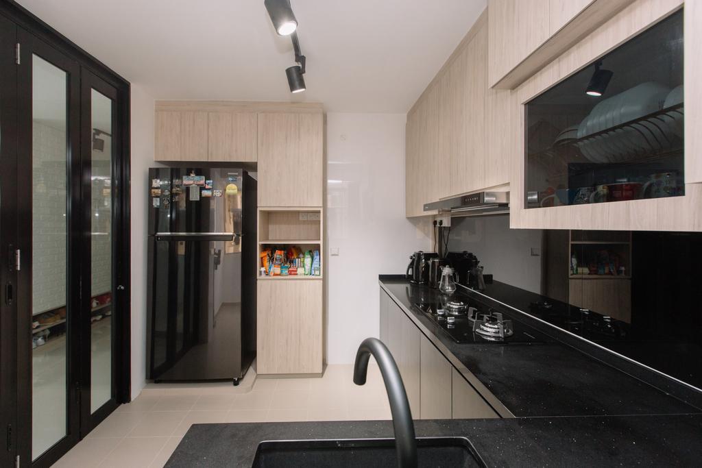 Contemporary, HDB, Kitchen, Sumang Lane, Interior Designer, 9's Interior