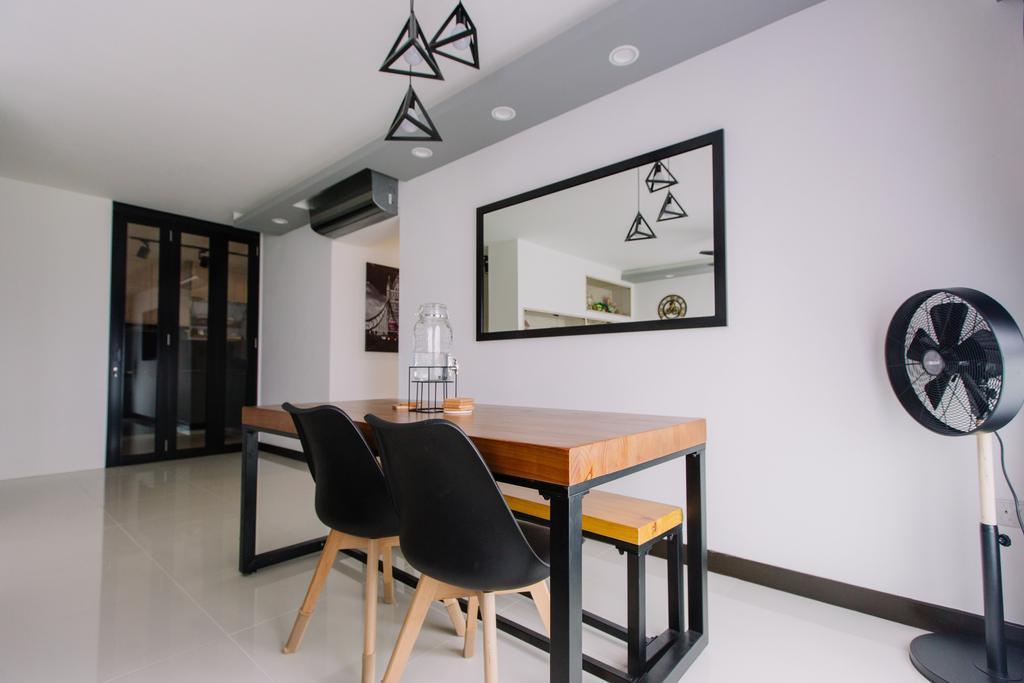 Contemporary, HDB, Dining Room, Sumang Lane, Interior Designer, 9's Interior, Chair, Furniture, Dining Table, Table, Indoors, Interior Design, Room
