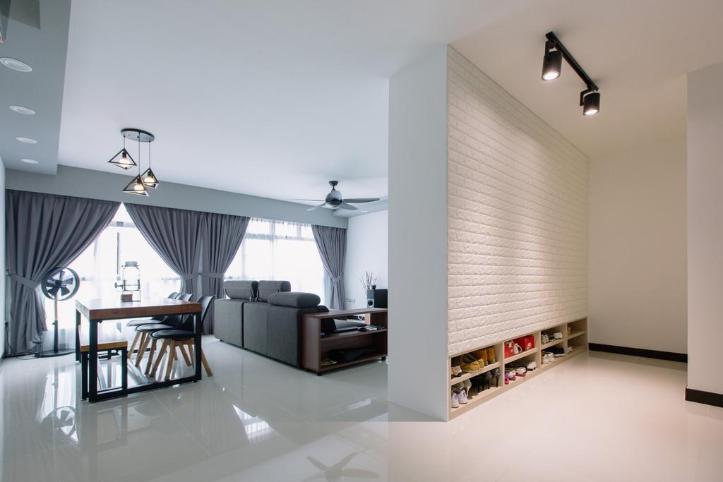 Contemporary, HDB, Sumang Lane, Interior Designer, 9's Interior, Building, Housing, Indoors, Loft