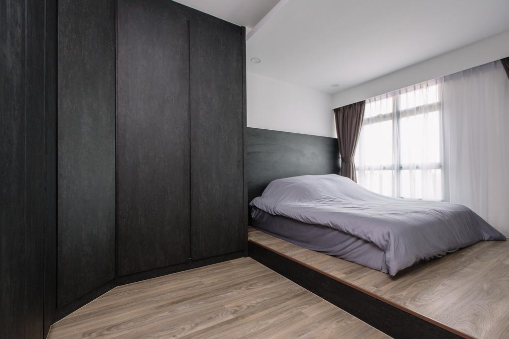 Contemporary, HDB, Bedroom, Sumang Lane, Interior Designer, 9's Interior, Bed, Furniture, Indoors, Interior Design, Room