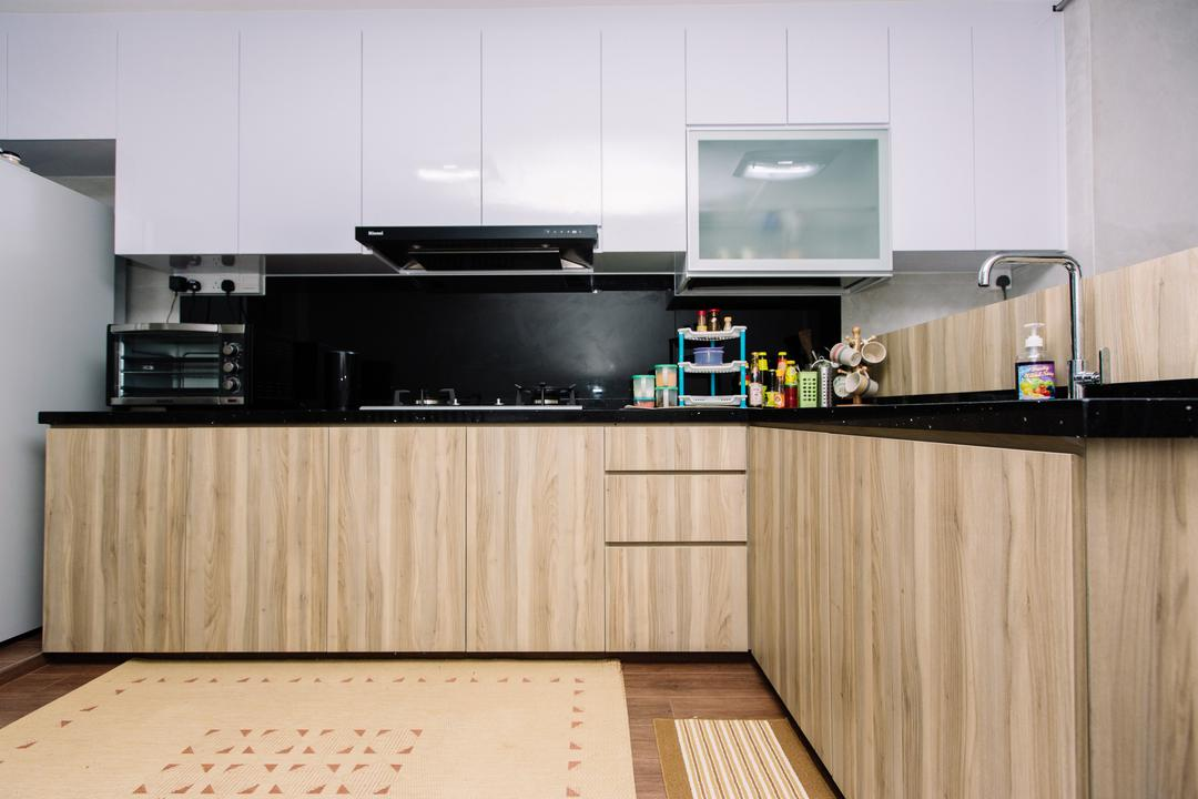 Marsiling Drive, 9's Interior, Modern, Kitchen, HDB, Indoors, Interior Design, Room, Hardwood, Wood
