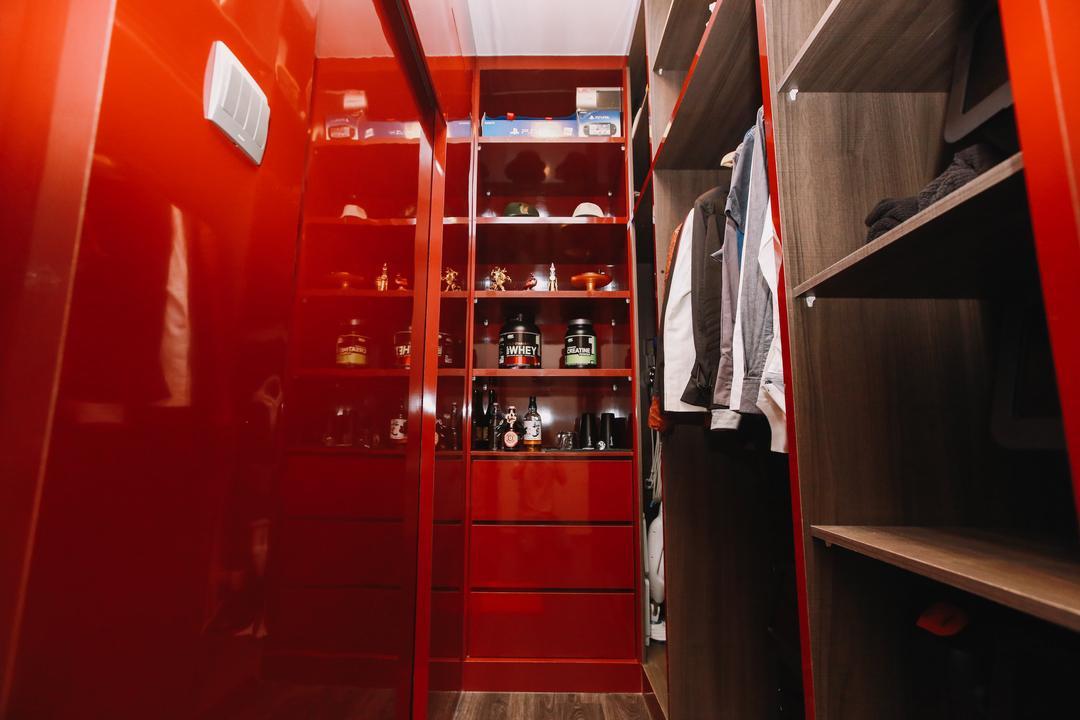 Queensway Tower, 9's Interior, Contemporary, Condo, Closet, Cupboard, Furniture, Bookcase