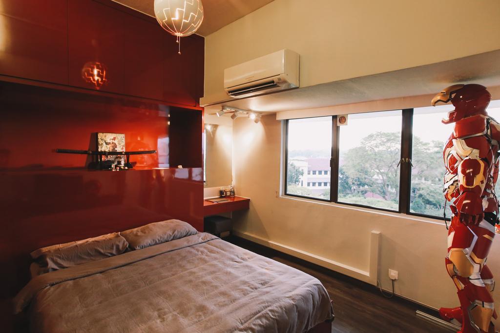 Contemporary, Condo, Bedroom, Queensway Tower, Interior Designer, 9's Interior, Human, People, Person