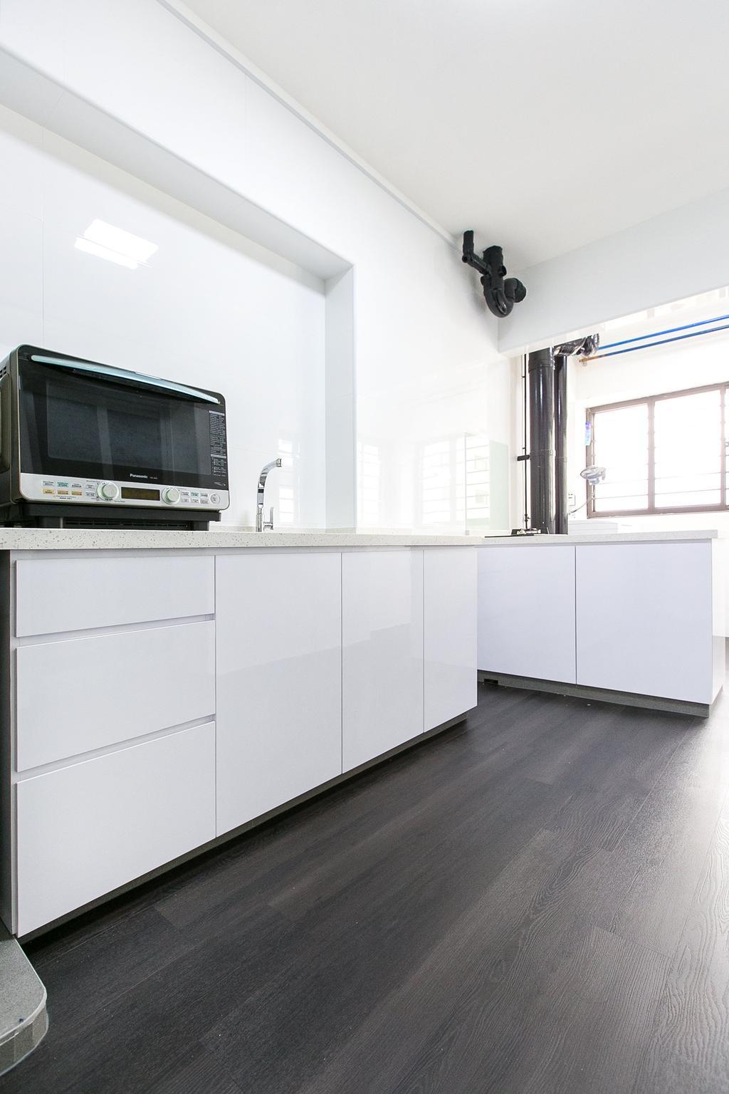 Modern, HDB, Kitchen, Boon Tiong Road, Interior Designer, 9's Interior, Furniture, Sideboard