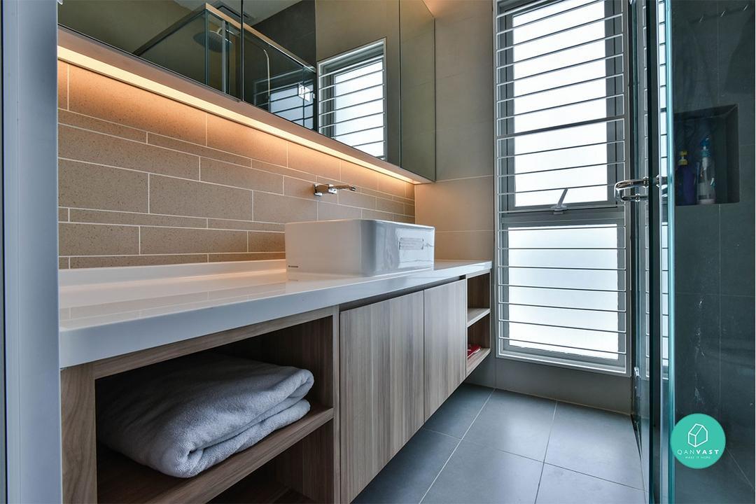 Wabi Sabi Bathrooms, Built In Vanity Mirror Lights