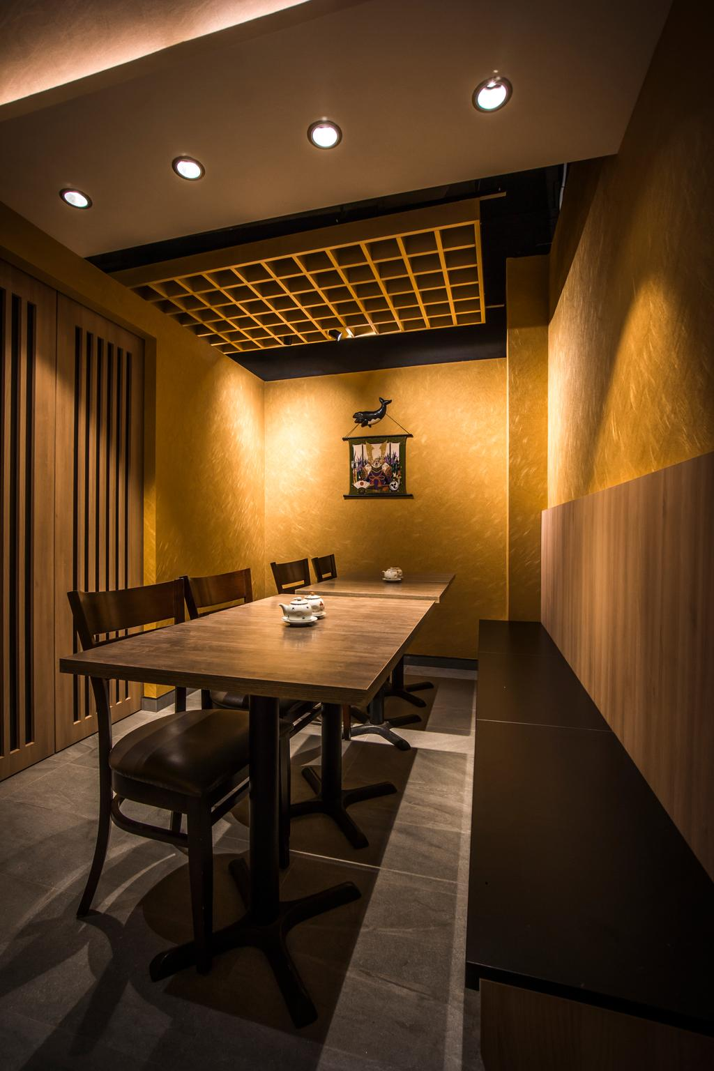 Hakumai, Commercial, Interior Designer, Flo Design, Contemporary, Dining Table, Furniture, Table, Dining Room, Indoors, Interior Design, Room, Conference Room, Meeting Room