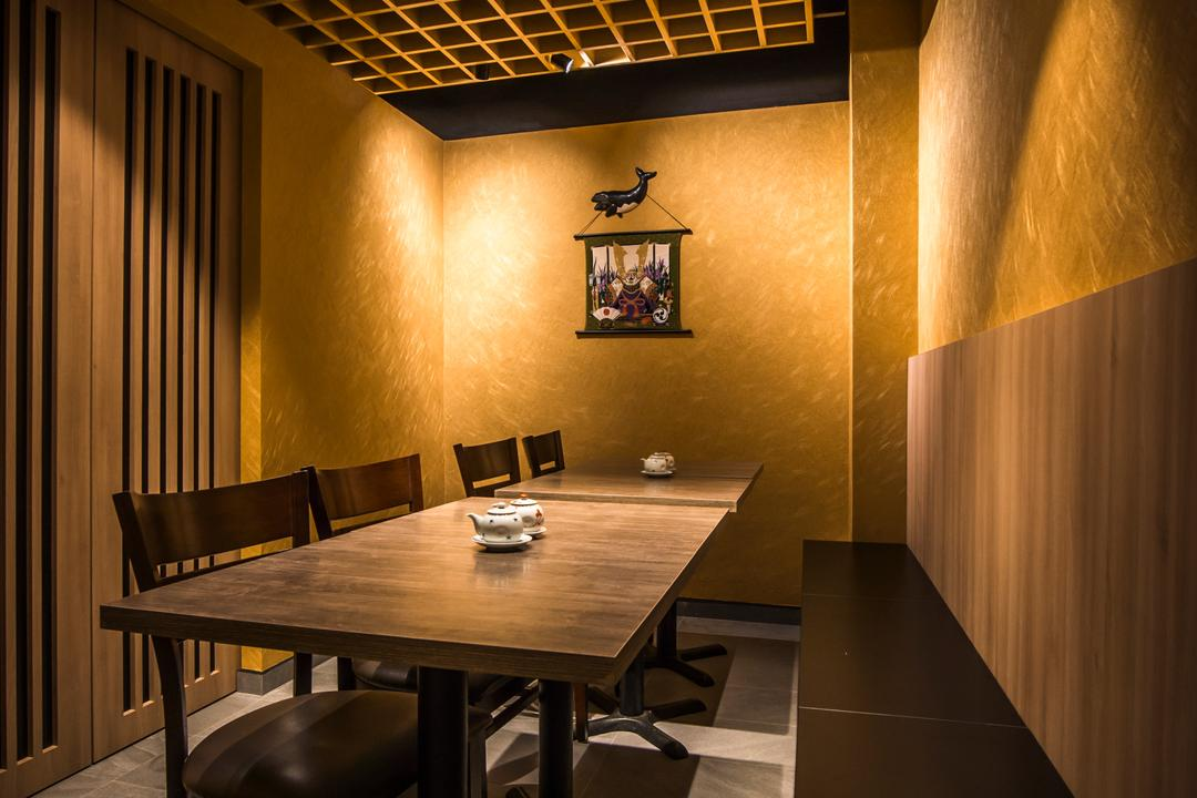 Hakumai, Flo Design, Contemporary, Commercial, Dining Table, Furniture, Table, Dining Room, Indoors, Interior Design, Room, Conference Room, Meeting Room
