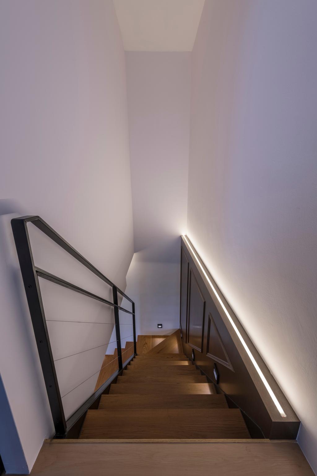 Contemporary, Condo, The Trilinq, Interior Designer, Adroit ID, Banister, Handrail, Staircase