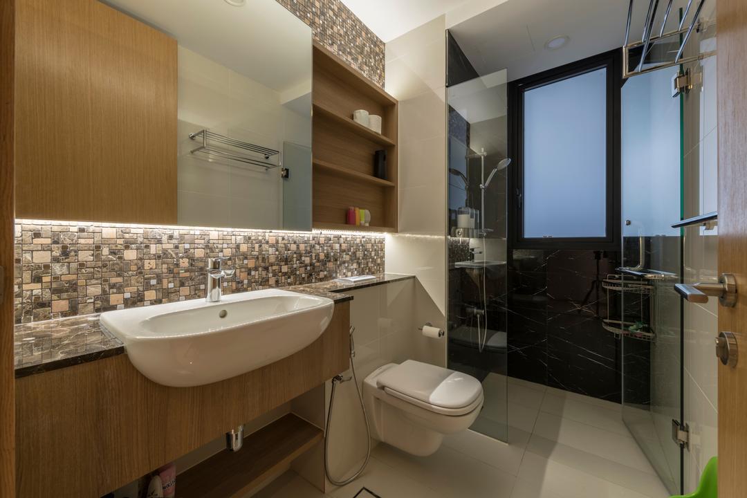 The Trilinq, Adroit ID, Contemporary, Condo, Toilet, Bathroom, Indoors, Interior Design, Room, Plumbing