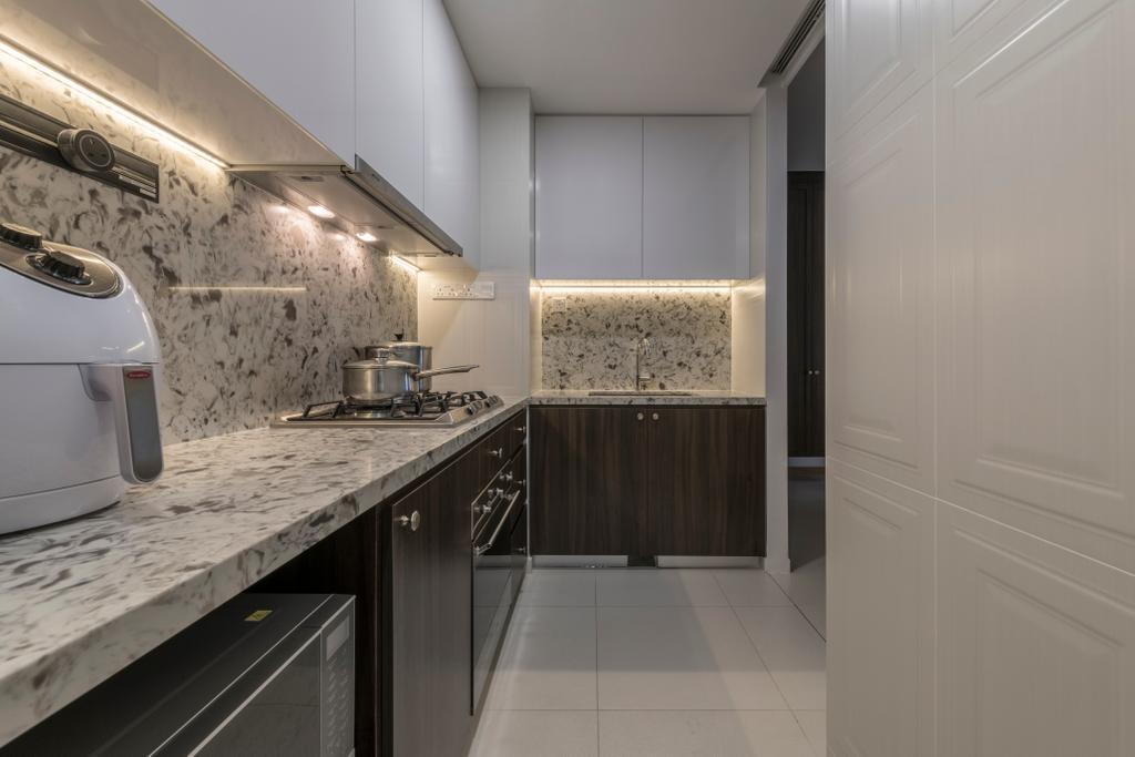Contemporary, Condo, Kitchen, The Trilinq, Interior Designer, Adroit ID, Appliance, Dishwasher, Electrical Device, Indoors, Interior Design