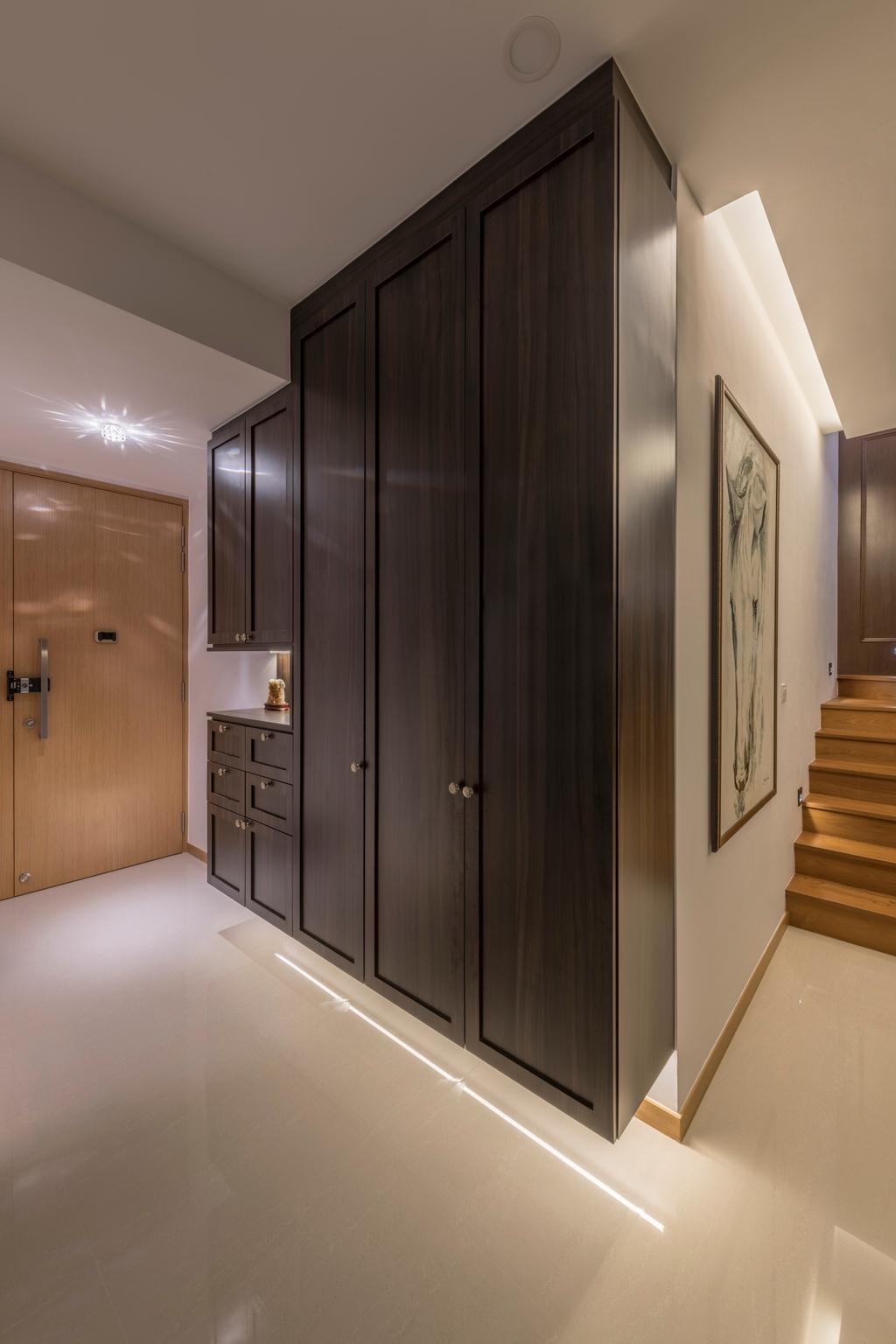 Contemporary, Condo, Living Room, The Trilinq, Interior Designer, Adroit ID, Furniture, Sideboard, Corridor, Cabinet