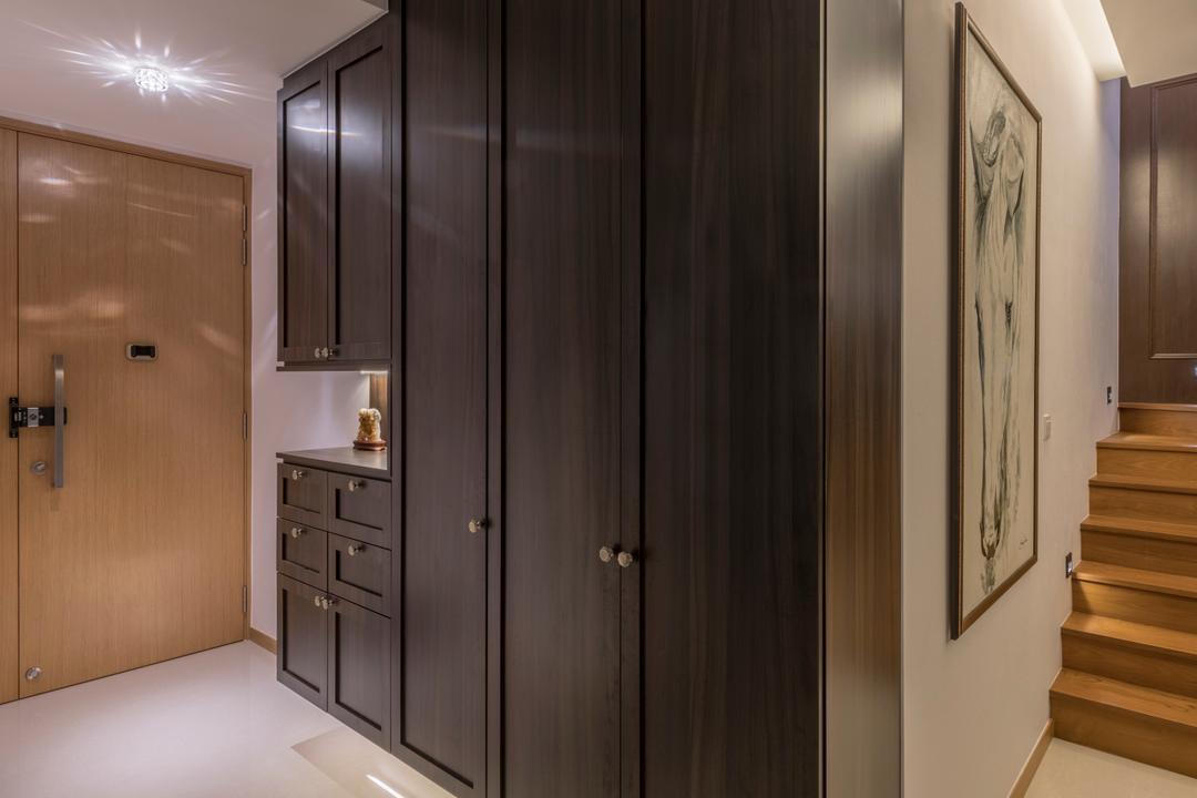 The Trilinq, Adroit ID, Contemporary, Living Room, Condo, Furniture, Sideboard, Corridor, Cabinet