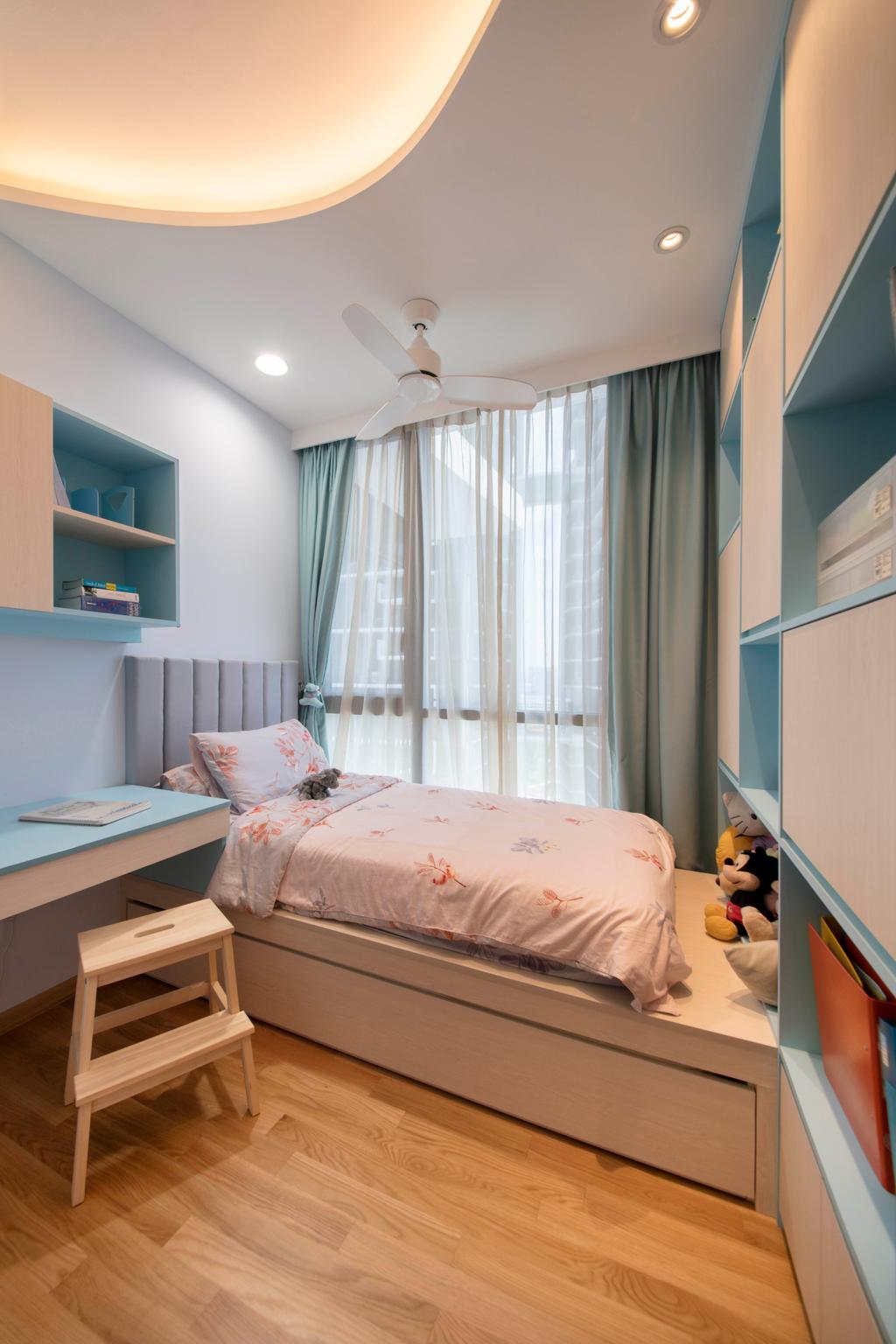 Scandinavian, Condo, Bedroom, The Trilinq, Interior Designer, Free Space Intent, Shelf, Cushion, Home Decor, Indoors, Interior Design, Room