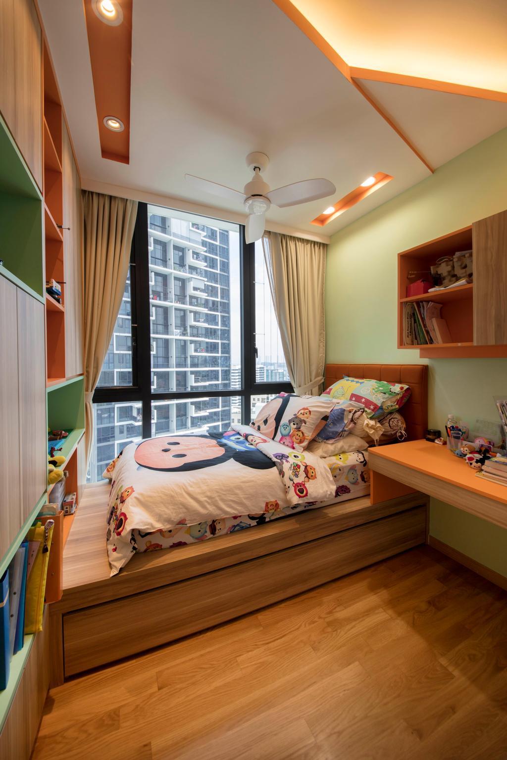 Scandinavian, Condo, Bedroom, The Trilinq, Interior Designer, Free Space Intent, Indoors, Interior Design, Room