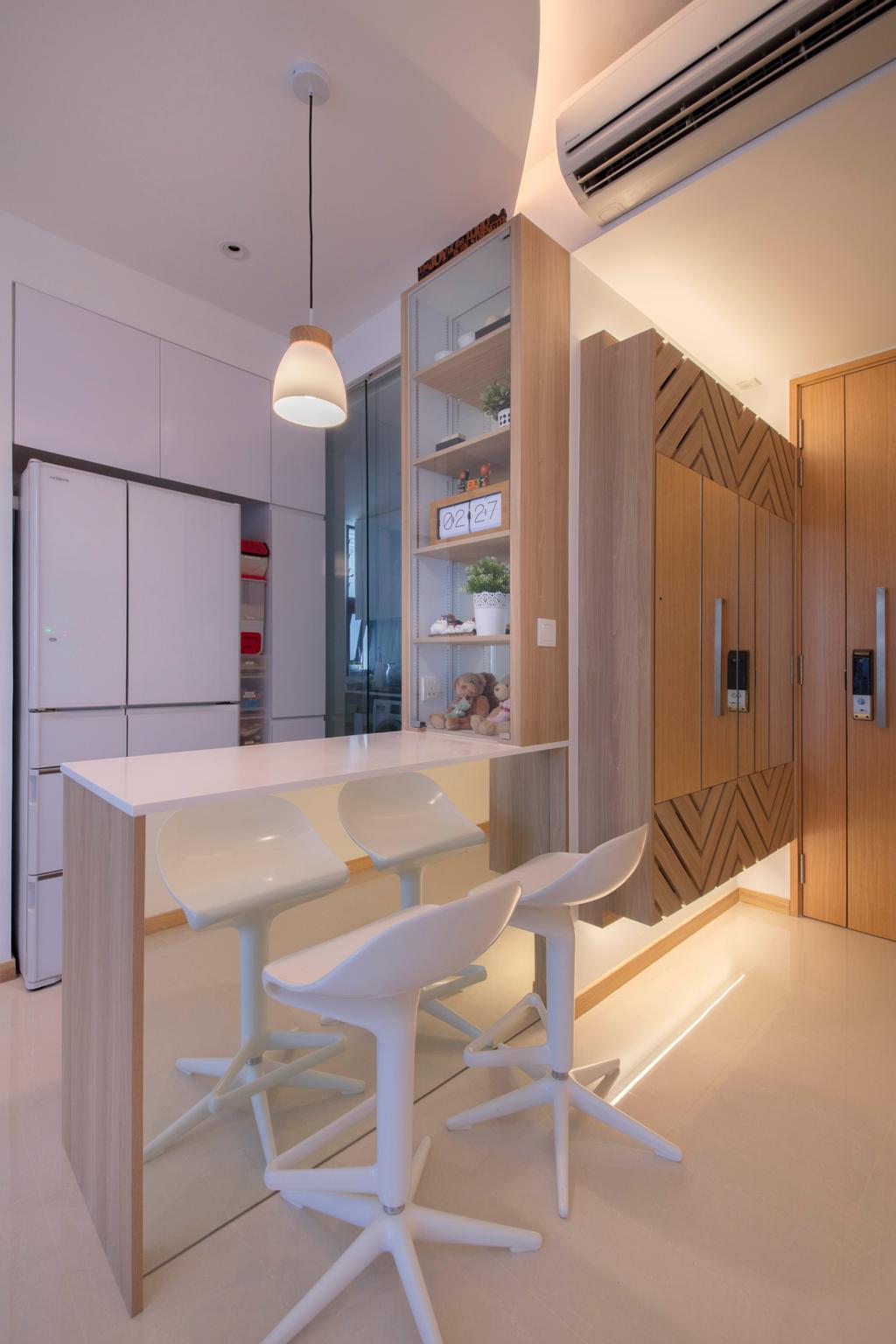 Scandinavian, Condo, Kitchen, The Trilinq, Interior Designer, Free Space Intent, Toilet, Furniture