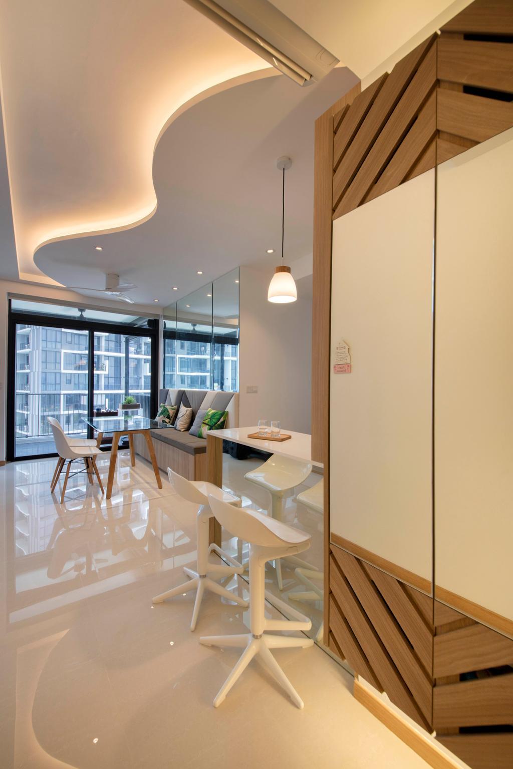Scandinavian, Condo, The Trilinq, Interior Designer, Free Space Intent, Dining Table, Furniture, Table, Dining Room, Indoors, Interior Design, Room, Chair