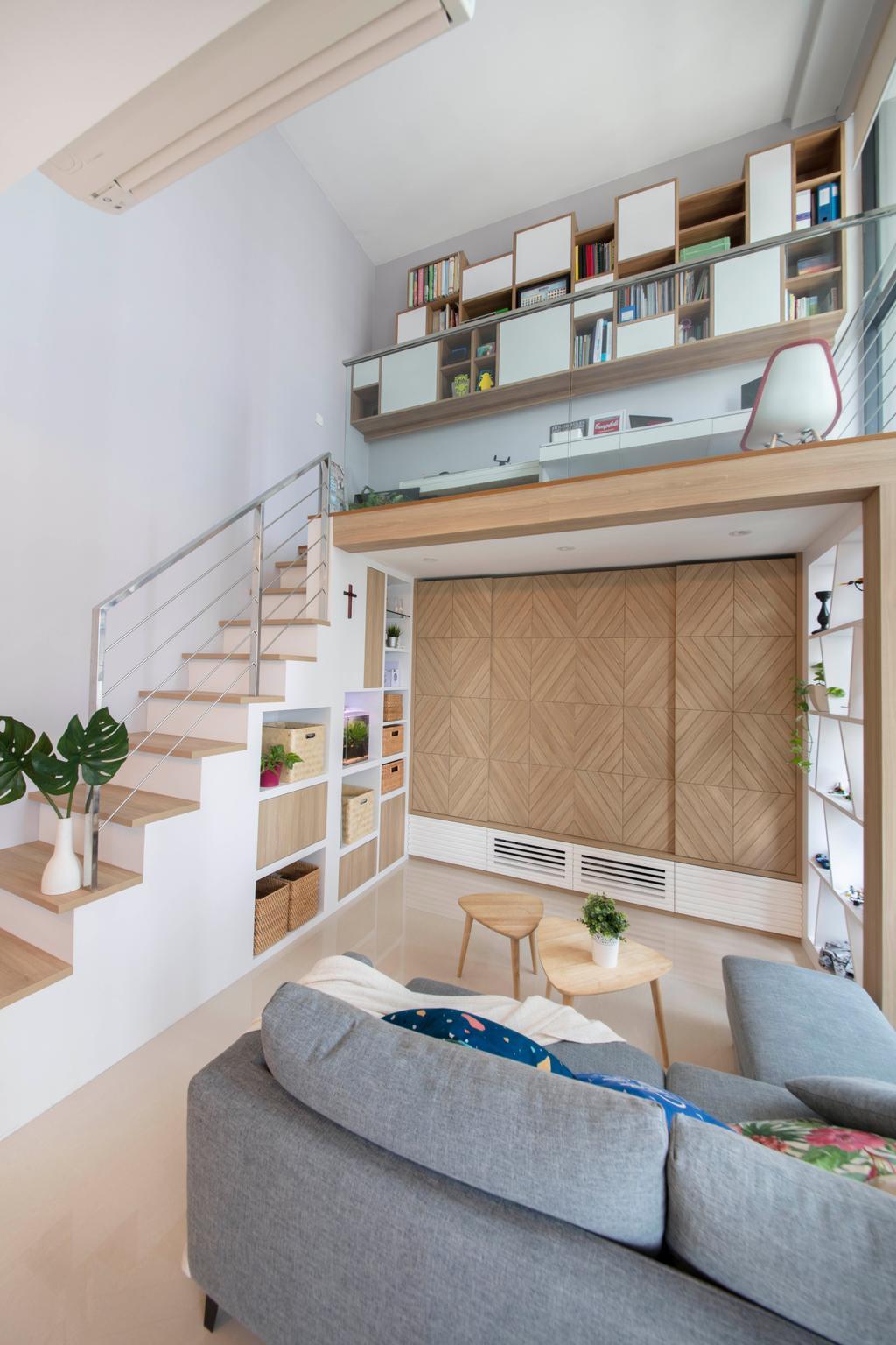 Scandinavian, Condo, Living Room, The Trilinq, Interior Designer, Free Space Intent, Indoors, Interior Design