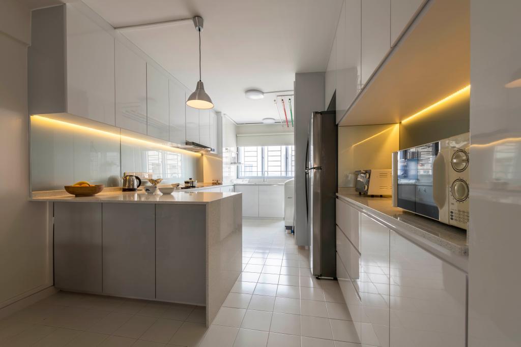 Modern, HDB, Kitchen, Sin Ming Avenue, Interior Designer, PHD Posh Home Design
