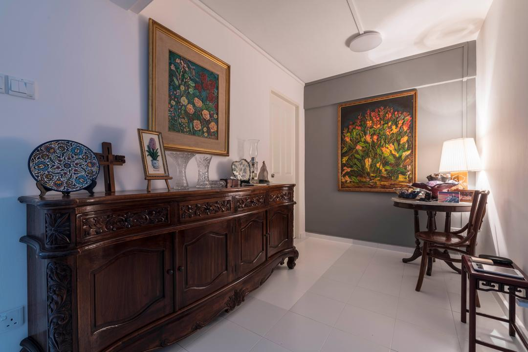 Sin Ming Avenue, PHD Posh Home Design, Modern, Living Room, HDB, Furniture, Sideboard, Chair, Art, Painting, Altar, Architecture, Building, Bar Stool, Indoors, Room