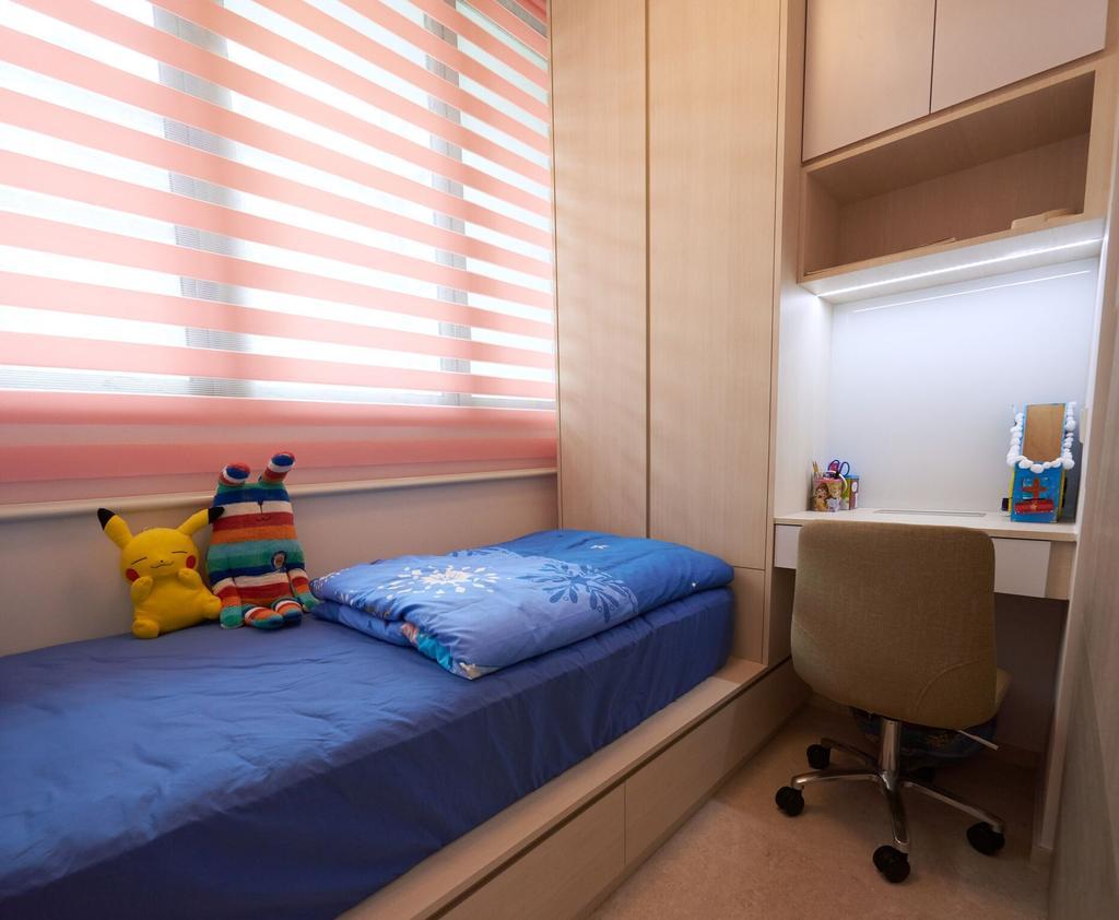 Contemporary, Condo, Bedroom, Marine Blue, Interior Designer, Charlotte's Carpentry, Chair, Furniture, Bed, Bathroom, Indoors, Interior Design, Room