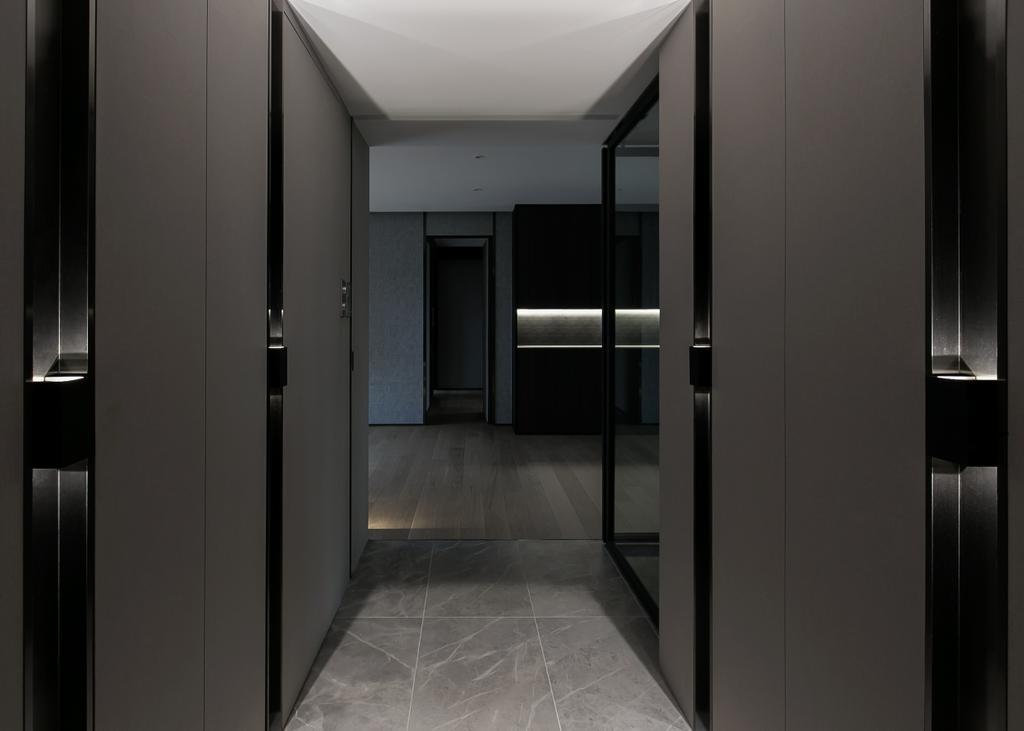 私家樓, 客廳, 嘉峰臺, 室內設計師, HIR 建築設計室, Corridor