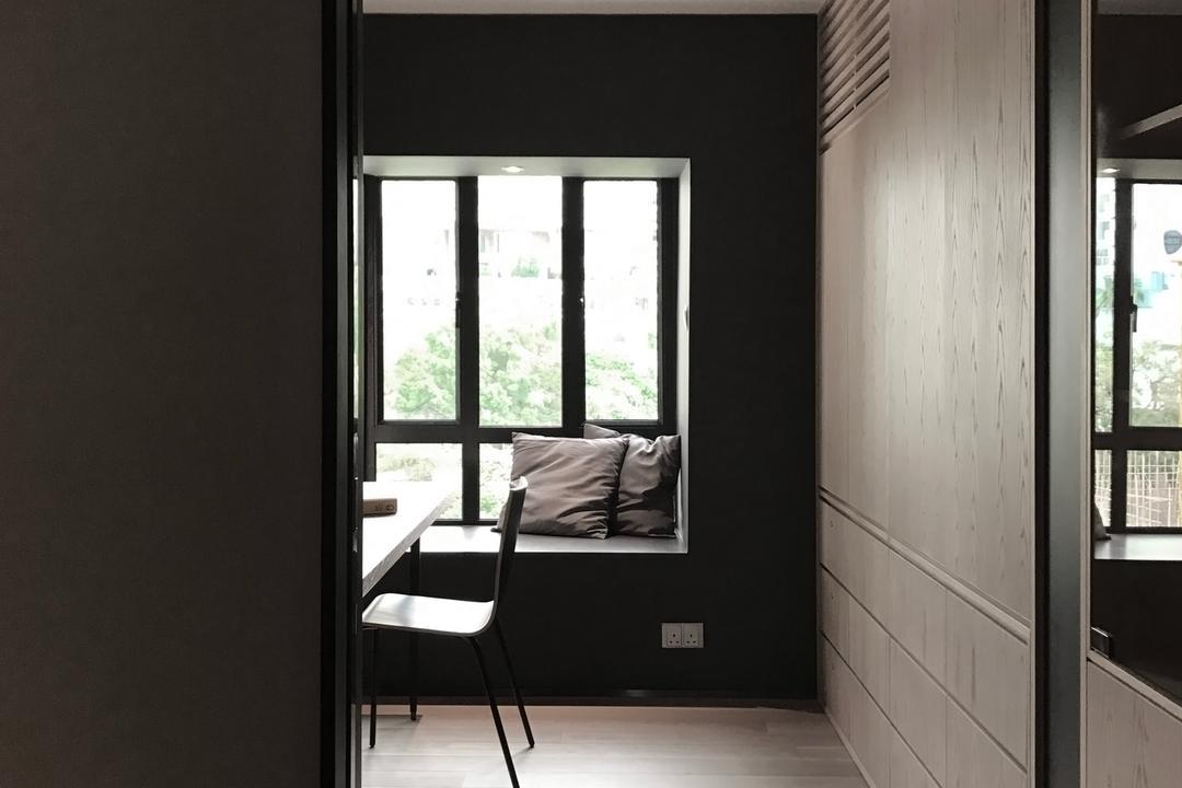 嘉峰臺, HIR 建築設計室, 書房, 私家樓, Window, Dining Table, Furniture, Table