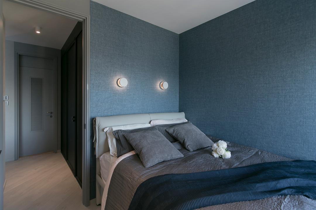 碧海藍天, HIR 建築設計室, 睡房, 私家樓, Flooring, Indoors, Interior Design, Room, Bed, Furniture